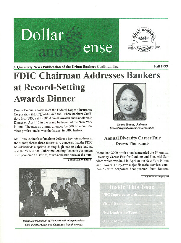 Urban Bankers Newsletter