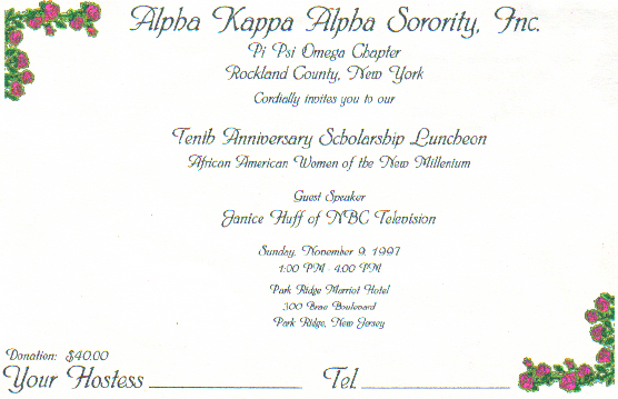 Alpha Kappa Alpha 10th Annual Scholarship Luncheon